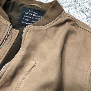 8880f91cf Lucky Nubuck Bomber Jacket XL - 100% Lamb Leather NWT